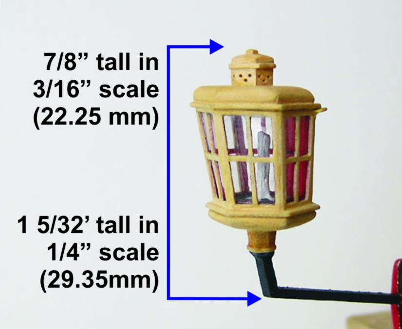 Stern lantern fitting ship model
